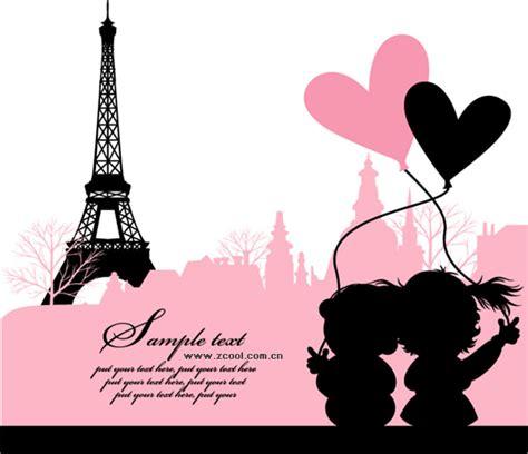 Paris, France, love vector material Download Free Vector ...