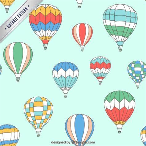 Patrón de globos aerostáticos | Descargar Vectores gratis
