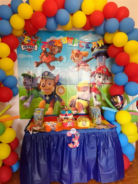 Patrulla canina decoración cumpleaños infantil ideas paw ...