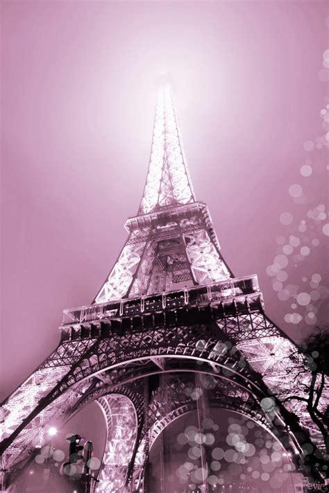 Photographie de Paris Tour Eiffel Photo romantique rose de