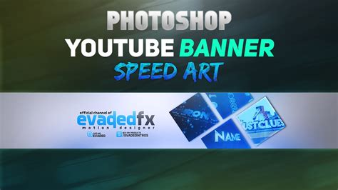 Photoshop Clean 2D Banner Speed Art   YouTube