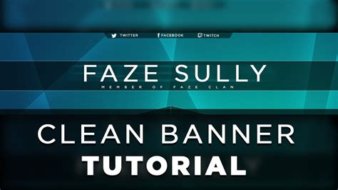Photoshop Tutorial | How to Create a Clean YouTube Banner ...