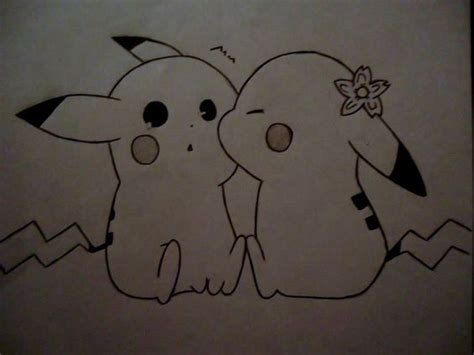 Pics For > Pikachu Love Drawing | Drawing | Pinterest ...