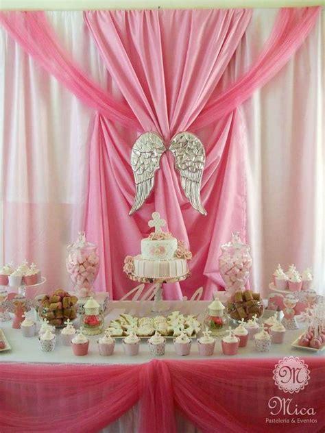 Pink Baptism Party Ideas | Bautizos, Comunión y Fiesta del ...