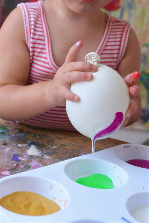 Pintura con globos: actividad creativa para peques ...