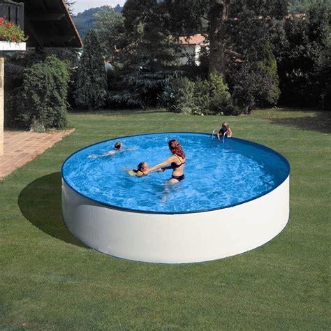 Piscina Gre Lanzarote redonda de acero blanco altura 90 cm ...
