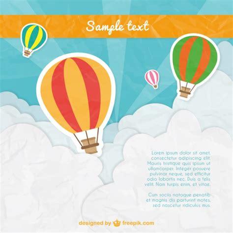 Plantilla de globos aerostáticos | Descargar Vectores gratis