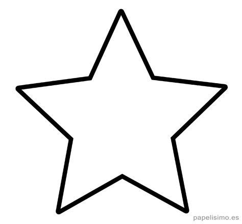 Plantilla estrella 5 puntas clasica imprimir pintar ...