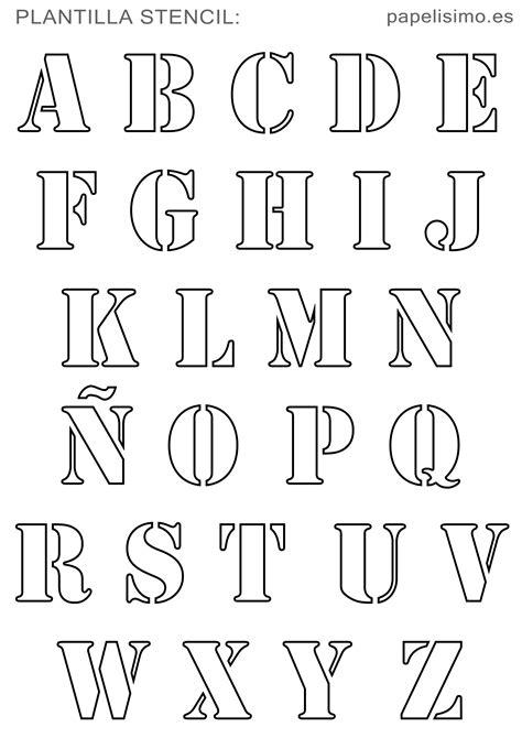 Plantillas abecedario stencil para imprimir  con ñ ...
