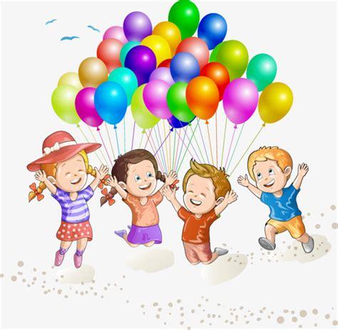 Playa, niños jugando con globos vector material, Playa ...