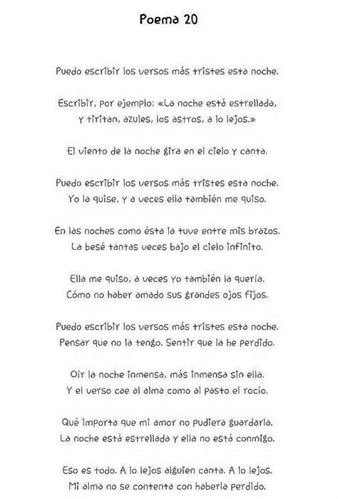 Poema #20. Pablo Neruda. | Mi pasión: la lectura ...