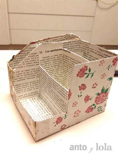 Portalapices de carton hecho con materiales reciclados ...