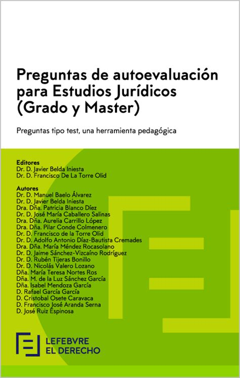 Preguntas de Autoevaluación para Estudios Jurídicos  Grado ...