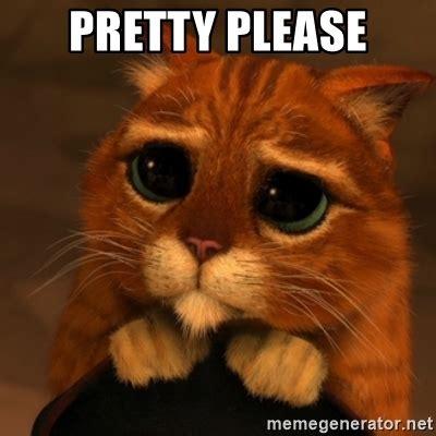 Pretty Please   Shrek Cat V1 | Meme Generator