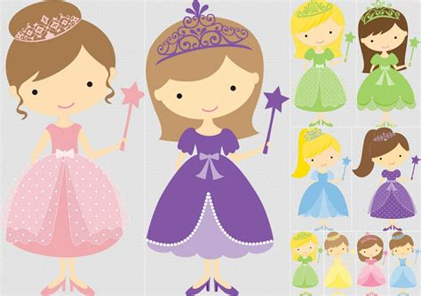 Pretty Princess Clip Art. | Oh My Fiesta! in english