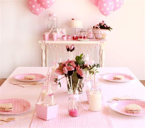 Primer cumpleaños de niña: decoración en rosa bebé   Blog ...