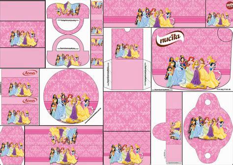 Princesas Disney: Etiquetas para Candy Bar para Imprimir ...