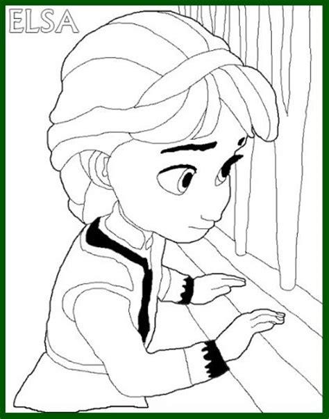 Princesas para Colorear Frozen Cuando eran Niñas