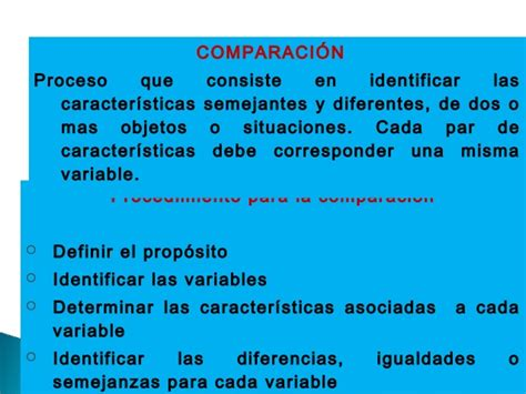 procesos básicos del pensamiento. Comparación y relación