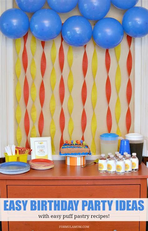 Puff Pastry Party Ideas for Birthdays PuffPastry AD
