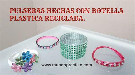 PULSERAS DE BOTELLA PLASTICA RECICLADAS   MANUALIDADES ...