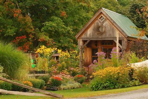 Quaint Rustic Garden House early Autumn by BlTZy   Pixdaus