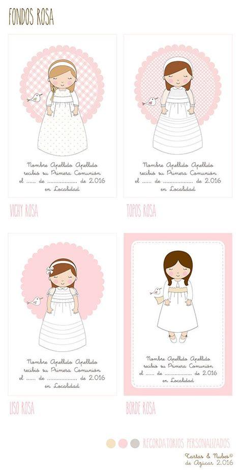Recordatorios Primera Comunión personalizados para niñas ...