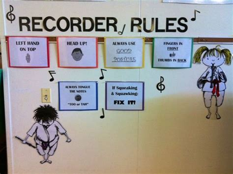Recorder Rules | Music classroom | Pinterest | Recorder ...