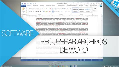 RECUPERAR ARCHIVOS SIN GUARDAR EN WORD | 2015 | HD   YouTube