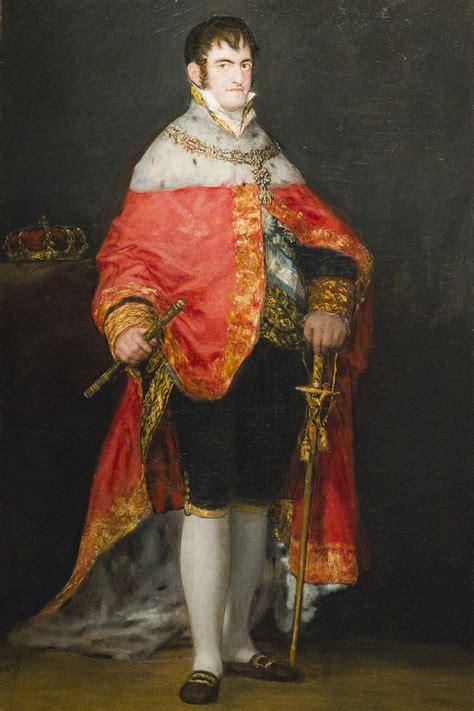 Retrato del Rey Fernando VII  Francisco de Goya  Arte Paisaje