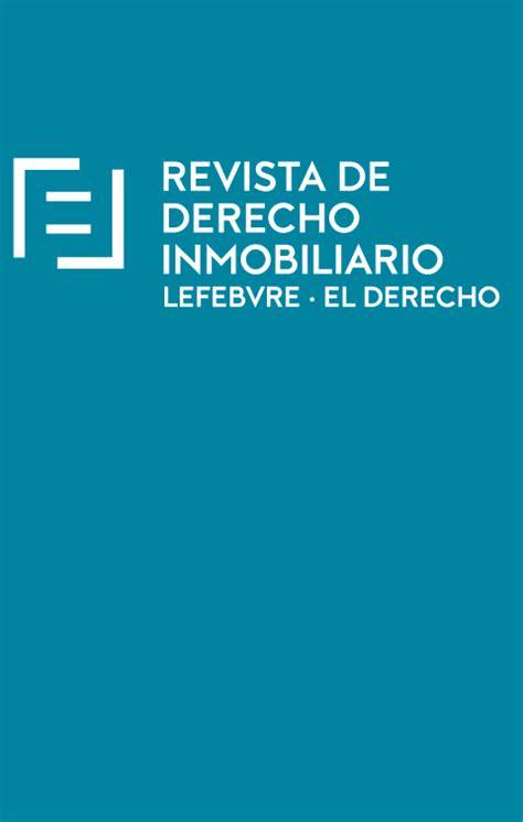 Revista Derecho Inmobiliario | Lefebvre El Derecho