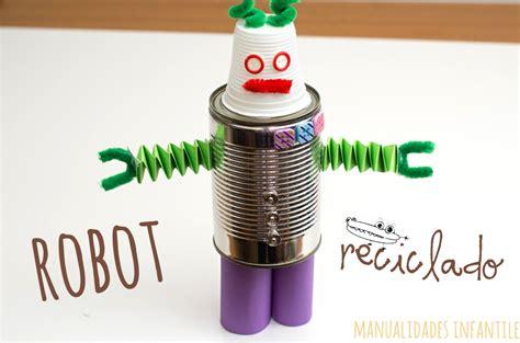Robot reciclado   Manualidades Infantiles