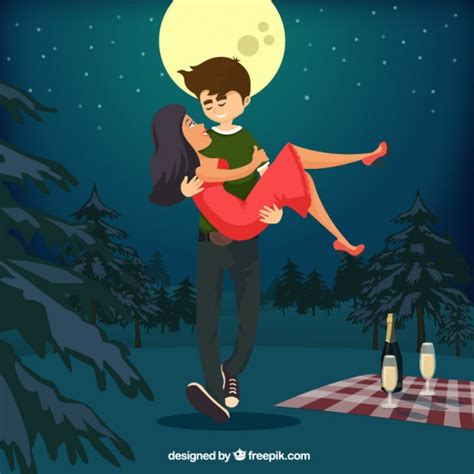 Romantic Couple Illustration Vector | Free Download