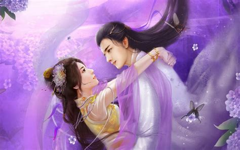 Romantic Lovers Paintings Digital Art CG Pictures Free ...