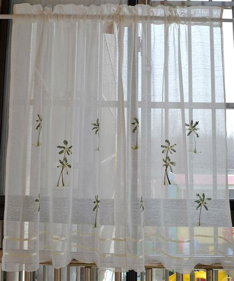 Rustic kitchen curtain fabric coffee window valance semi ...
