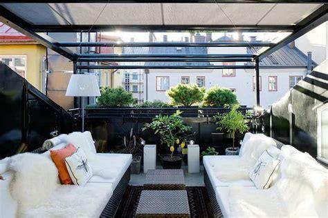 Sala, comedor y terraza al estilo nordico