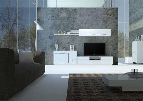 Salón de diseño minimalista blanco e inox
