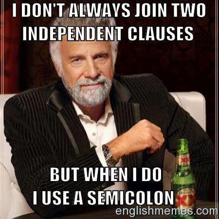 Semicolons | English Memes | Pinterest | English memes ...