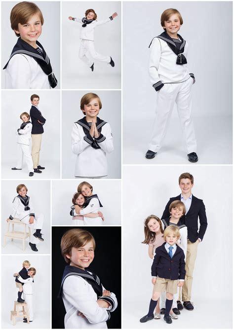 Sesion de fotos de niño con el traje de primera comunion ...