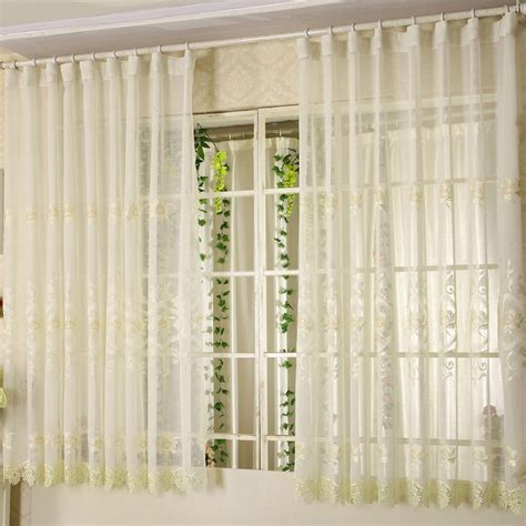 Short sheer curtains for Bay Windows in Elegant