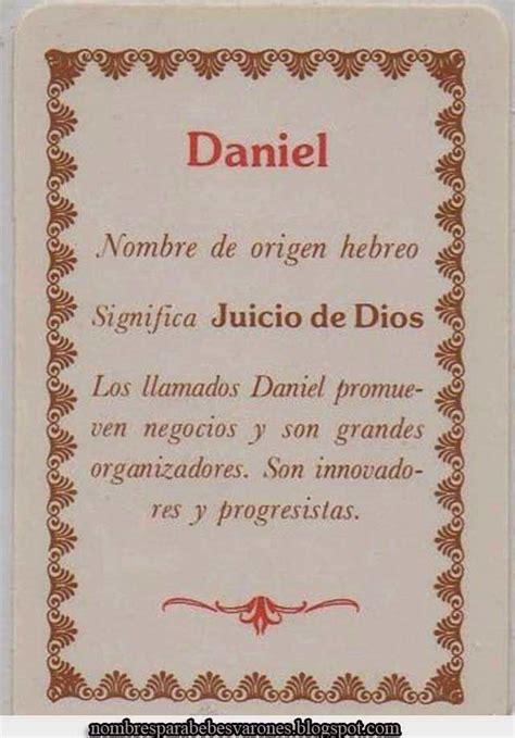 SIGNIFICADO DEL NOMBRE DANIEL   NOMBRES BÍBLICOS : NOMBRES ...