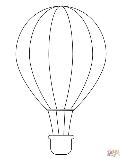 Simple Hot Air Balloon coloring page | Free Printable ...