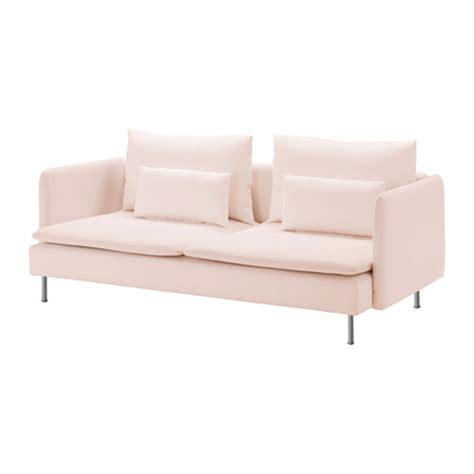 SÖDERHAMN Sofá 3 plazas   Samsta rosa claro   IKEA
