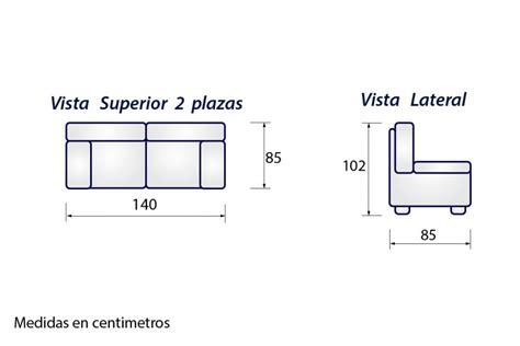Sofá 2 plazas SONJA gris al MEJOR PRECIO