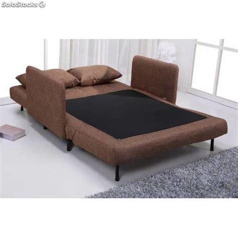 Sofá cama dos plazas marrón