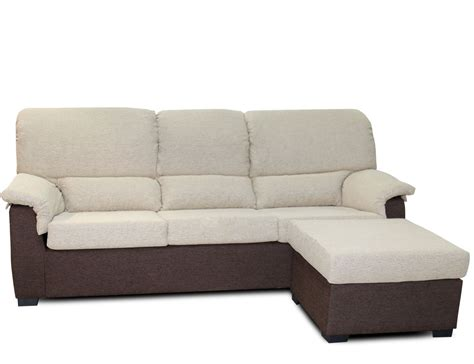 Sofá chaiselongue barato con puf reversible  15285 ...