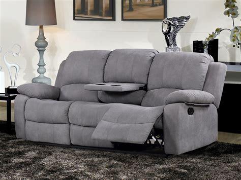 Sofá relax de 3 plazas, diseño ergonómico y dos mecanismos ...