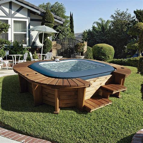 Spa hinchable de madera Palm Beach — Jardinitis