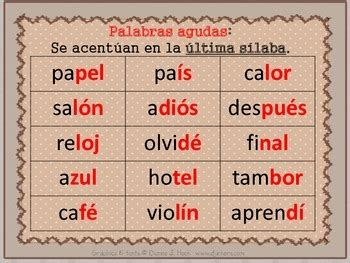 Spanish: Use of Accent Mark... by Vero DuMont | Teachers ...