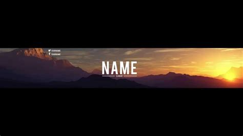 [Speed Art] Clean Landscape Banner Template |Shaiikaa ...